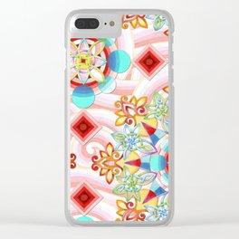 Cosmic Waves Kimono Clear iPhone Case