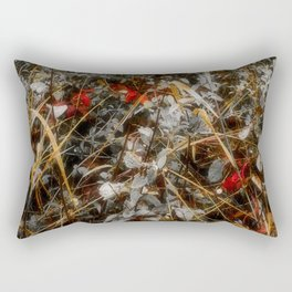 The Cold Heart of February Rectangular Pillow