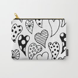 Patterned hearts Carry-All Pouch