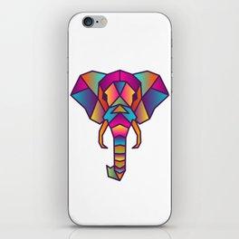 Elephant | Geometric Colorful Low Poly Animal Set iPhone Skin