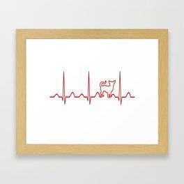 Chihuahua Heartbeat Framed Art Print