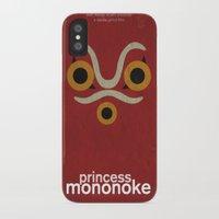 princess mononoke iPhone & iPod Cases featuring Princess Mononoke  by Fabio Castro