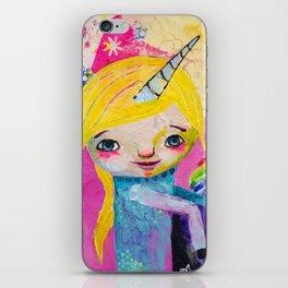 Unicorn Rainbow Girl iPhone Skin