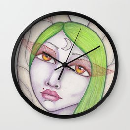 Lunar Moth Wall Clock