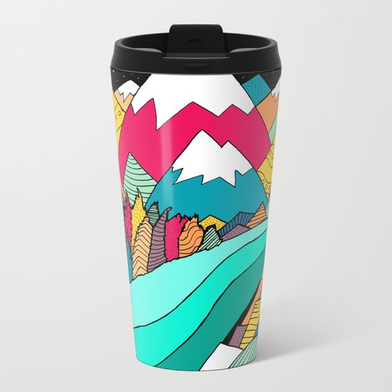 River in the mountains Metal Travel Mug