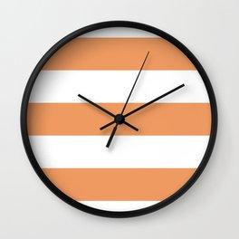 Pumpkin Stripe Wall Clock