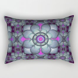 Bluish floral pattern Rectangular Pillow