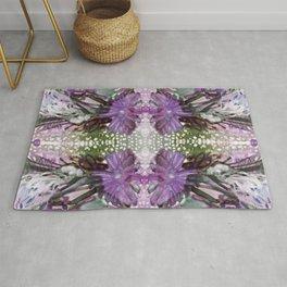 Psychedelic Positive Notes Lavender Zoom Rug