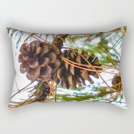 Pine Cone on a Pine Tree Rectangular Pillow