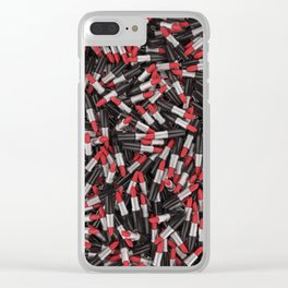 Full of lipsticks Clear iPhone Case