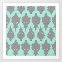 persian Art Prints featuring Persian Textile by Nahal