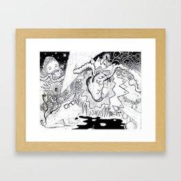heart of magic Framed Art Print