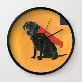 trusty sidekick - by phil art guy Wall Clock