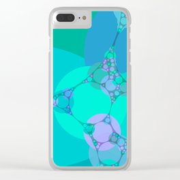 charlotte - bright abstract design aquamarine azure electric blue Clear iPhone Case