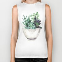 succulents Biker Tanks featuring Succulents by Bridget Davidson
