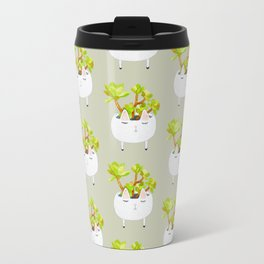 Kawaii succulents Travel Mug