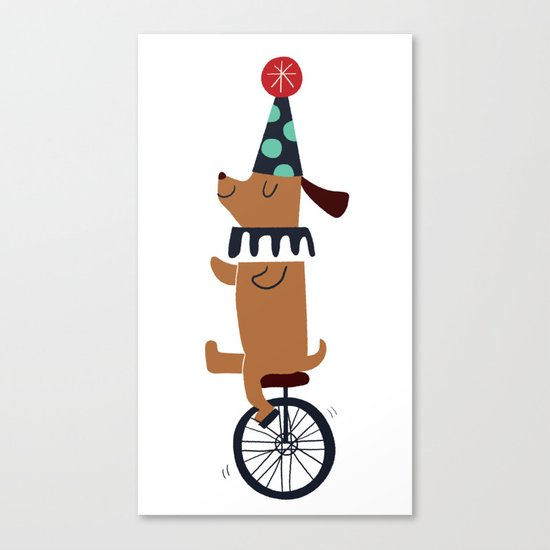 circus dog Canvas Print