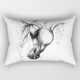 Arabian horse drawing Rectangular Pillow