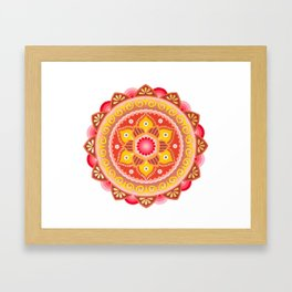 Cinnamon Flower Framed Art Print