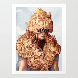 The Roaming City Art Print