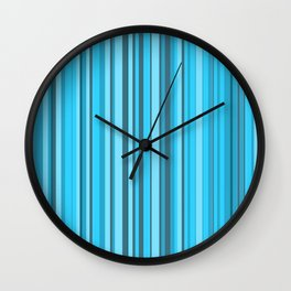 Stripe obsession color mode #7 Wall Clock