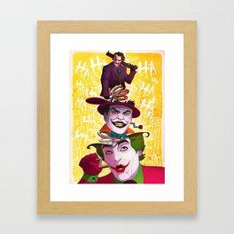 The Popping Joker Framed Art Print