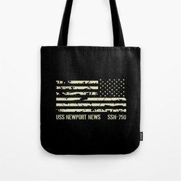 USS Newport News Tote Bag