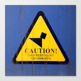 caution Canvas Print