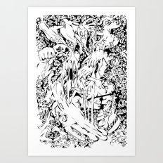 Flowing Obsessions Art Print