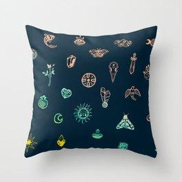 Symbols of magic Throw Pillow