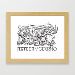 Azteca Moderno Digital Framed Art Print