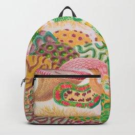 Colorful Coral Vintage Sea Life Illustration Backpack