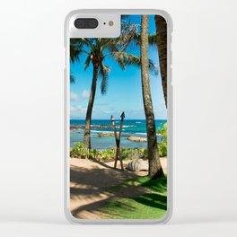 Kuau Beach Paia Maui North Shore Hawaii Clear iPhone Case
