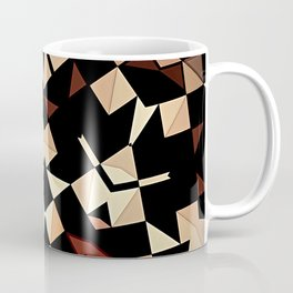 Patchwork Half Mandala Neutral Tones Coffee Mug