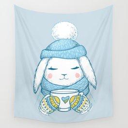 Winter Rabbit Wall Tapestry