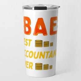 BAE: Best Accountant Ever Cute & Funny Accounting Travel Mug