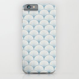 Japanese Oriental Nippon Yayoi Blue Wave Pattern iPhone Case
