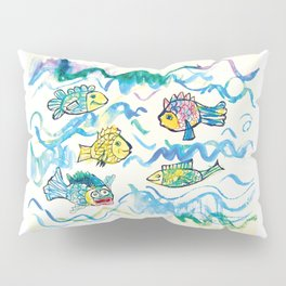 Funny fishes Pillow Sham
