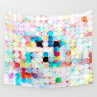 dot Wall Tapestries featuring dot transparency by Matthias Hennig