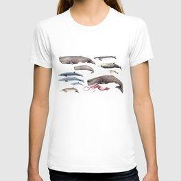 Deep sea whales T-shirt