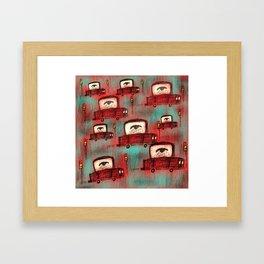 Beep, Beep, Sheep Coming Through! Framed Art Print