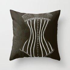 Victorian Corset Throw Pillow