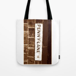 Street sign Penny Lane, Liverpool Tote Bag