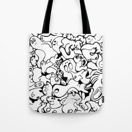 Monster Collage Tote Bag