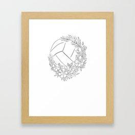 Live Like Line shirt volleyball shirt women girls Framed Art Print
