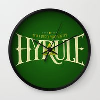 hyrule Wall Clocks featuring Hyrule Nation by Jango Snow