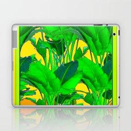 YELLOW GREEN & GOLD TROPICAL  GREEN FOLIAGE ART Laptop & iPad Skin