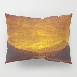 Caspar David Friedrich / Mountainous River Landscape Pillow Sham