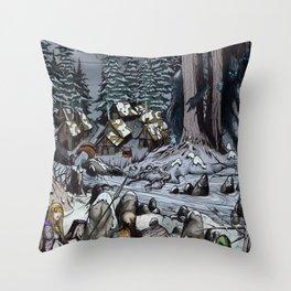 The Snow-Bound Village Throw Pillow