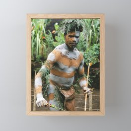 Papua New Guinea Villager Framed Mini Art Print